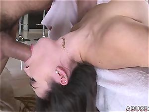 lil' d xxx They nail on numerous positions until she starts cleaning jizz of the floor.