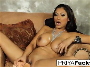 Priya sates her thirst with a toy