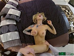 agony or delight for crazy ash-blonde stunner Sarah Jessie banged in her gorgeous gash pov fashion