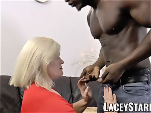 LACEYSTARR - granny rectally creampied with bbc