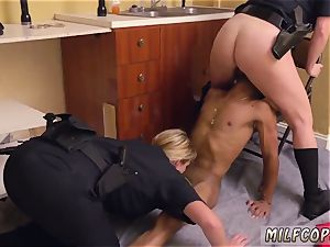 splendid latin cougar and antique youthful ebony male squatting in home gets our mummy officers