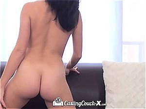 young Megan bj's and smashes the casting agent