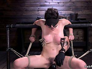 fat udders hairy mega-bitch vag played in bondage & discipline