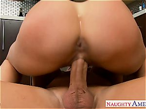 curvaceous Brandy love inhales pecker and gets ate