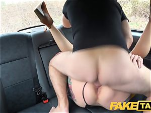 fake taxi Ava Austen in scorching horny taxi tear up