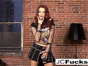 Jayden Cole tucks her underpants in her cooter