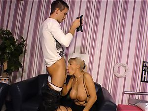 SexTapeGermany - German bang-out gauze with blond cougar