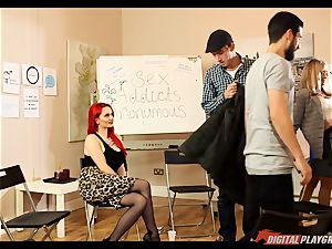 hookup junkies anonymous gets a bit hot with Jasmine James and Danny D