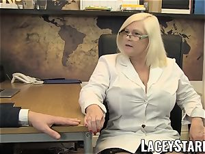 LACEYSTARR - GILF munches Pascal milky jism after bang-out