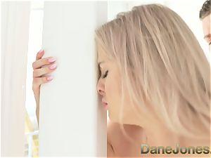Dane Jones light-haired babe vulva licking ejaculation bj