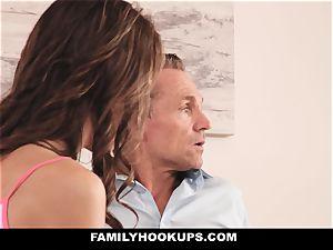 FamilyHookUps - Rebel nubile romped by stepdad