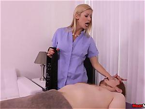 light-haired cougar pulsating boner Having Some agonizing orgasm