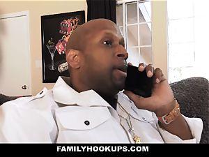 FamilyHookUps - nubile Gets plowed By black stepdad