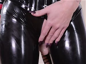 rigorous housewife with fat bone pummels her servant latex Lucy