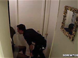 milky Cops boink black teenager