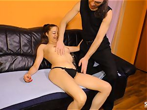 Sextape Germany - dark haired German is drilled on camera