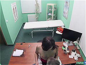Hidden cam romp in the doctors office