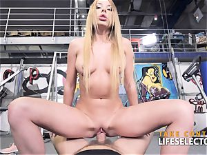 three huge-boobed beauties do anything for the rich man pov