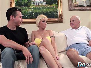 blond milf wife huge dick ass-fuck internal cumshot