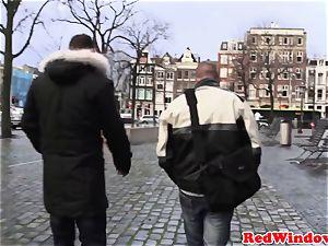 Amsterdam escort gets cumshowered