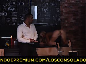 LOS CONSOLADORES - Hungarian blonde gets romped point of view