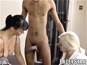 LACEYSTARR - Mature doctor romped by multiracial duo