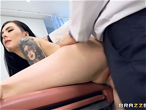 Marley Brinx gets her vag deeply tested at the doctors