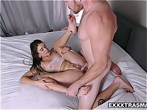 puny sweetheart gets oiled and teased