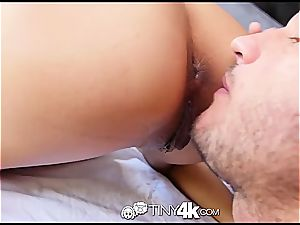 puny Chloe Amour takes manstick deep