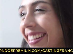 casting FRANCAIS - amateur hottie torn up and jizm facialed