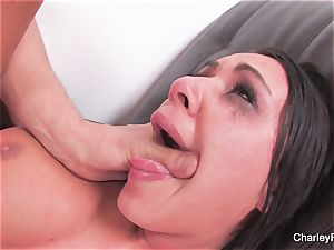 brown-haired ultra-cutie Charley gets a harsh pummeling