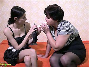OldNanny mature woman lovinТ lezzie belt dick