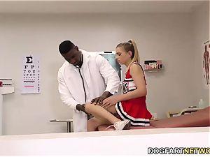 teen Sydney Cole pummels A dark-hued stiffy In clinic