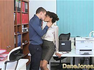 Dane Jones gorgeous teenager ebony office damsel