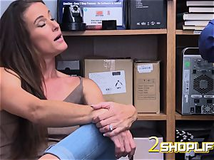 super-fucking-hot mummy Sofie is wrecked by wild officers loaded man rod