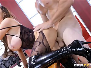 Nikki Benz and Romi Rain getting humped