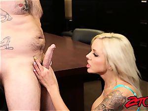 Office cougar Nina Elle enjoy lots of chisels!