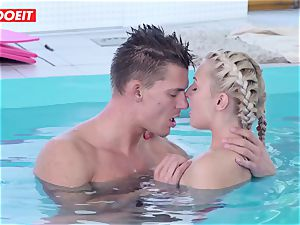 LETSDOEIT - super-steamy Czech duo Has passionate Pool hook-up