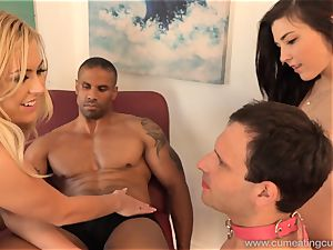 Summer Day Makes hubby clean jizm Off Her hot body