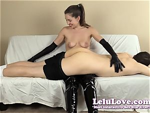 femdom smacking his culo with my hairbrush mitts..