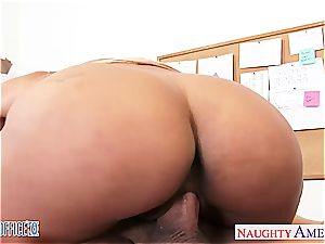 big-titted black-haired Abby Lee Brazil bang in office