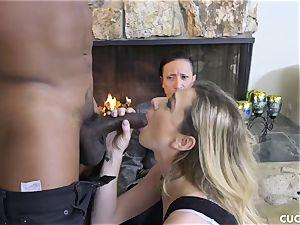 ebony dude drills his boss slutty wife Dahlia Sky