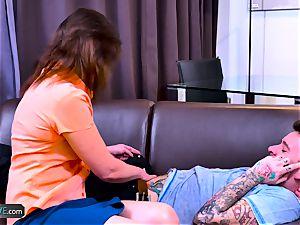 AgeLovE Mature chick Kristina screws With lad