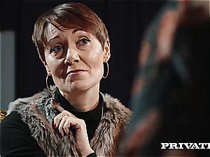 Private.com - Ella Hughes, spunk in Her unshaved cunny