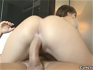 Cristal virgin with her gams broad open getting ass fucking hookup