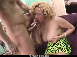 mummy Michelle stunner ample boobed Get spunk Showered