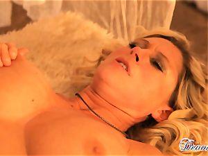 Devon Lee gets her vulva stabbed by a monster wood
