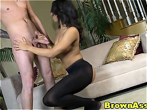 ebony sweetheart Sophia plumbed from behind