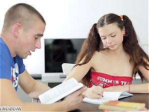 Undergraduate seduced by the fleshy Russian girl Alena