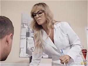 Cherie Deville enjoys playing doctor